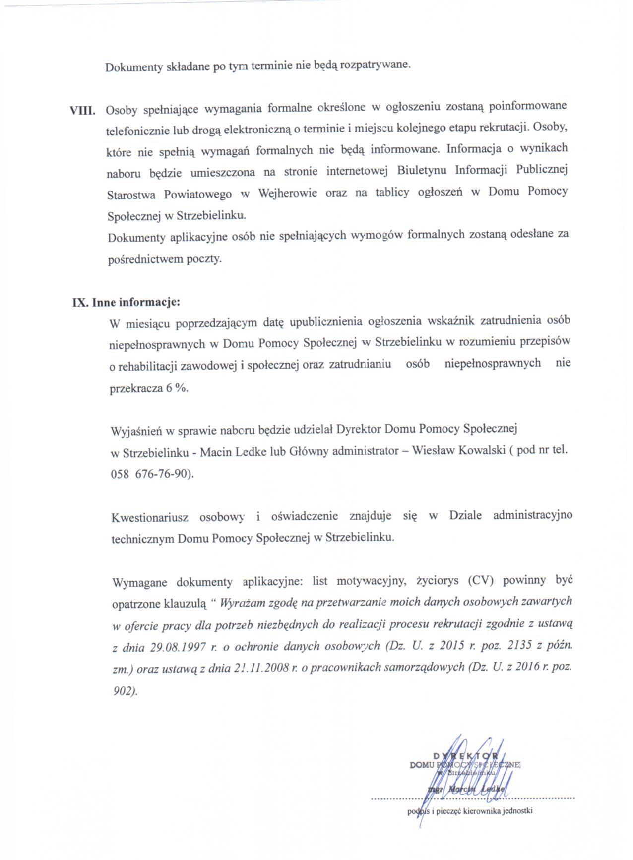 07ab03ba761f01 stanowisko urzędnicze - Administrator w DPS w Strzebielinku - Oferty ...